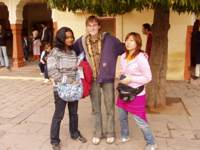 Rajes, Lennart, Chiharu at the museum