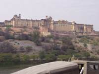 Amber fort from downhill