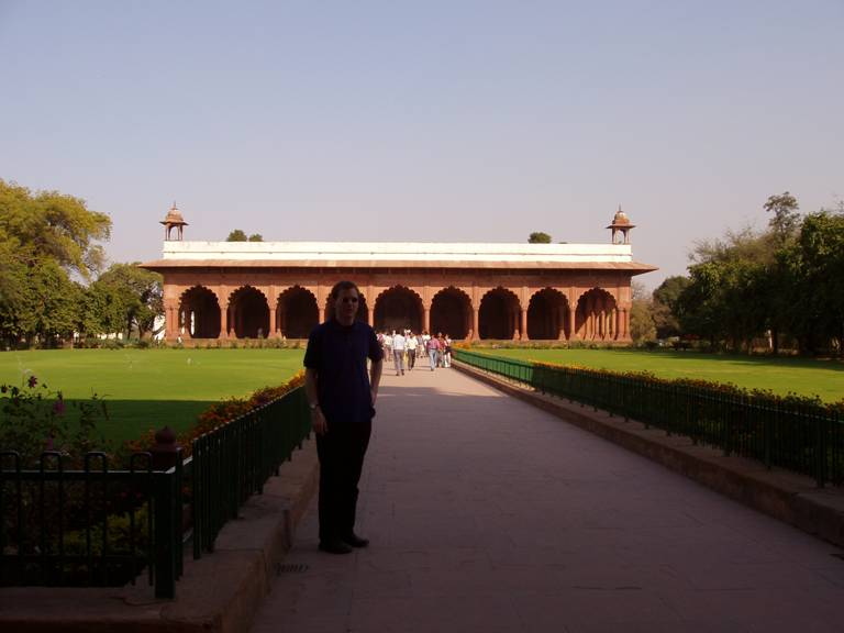 Stefan at the Red Fort