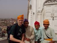 Me and 3 Indian boys