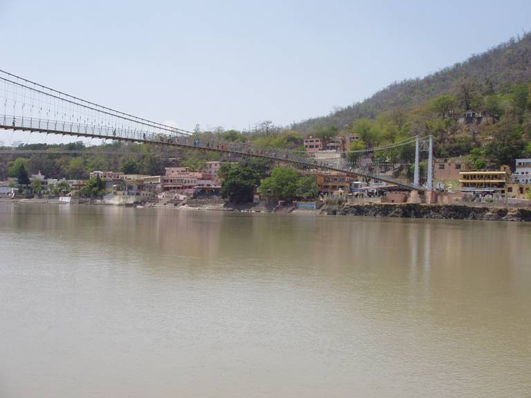 View from the Ganges Ghats in Rishikesh