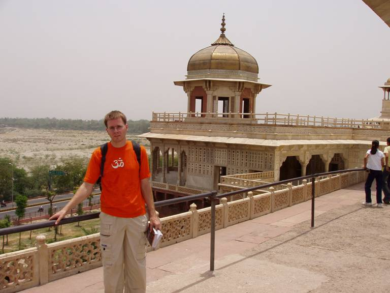 Stefan am Agra Fort