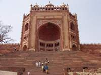 Buland Gate of Jama Masjid mosque in Fatehpur Sikri