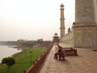 Yamuna river view from the Taj Mahal