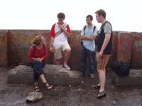 Ankunft in Mussoorie with Willemijn, Vincent, Kevin, Marty