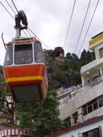 Cable car to Gun Hill