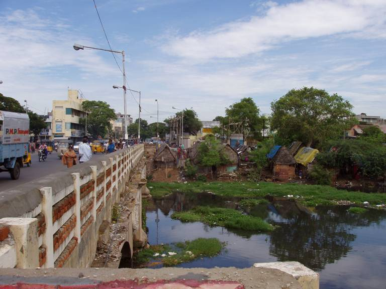 Chennai, River Cooum (Harris Road)