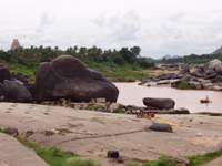 Tungabhadra River near Rama temple (west view)